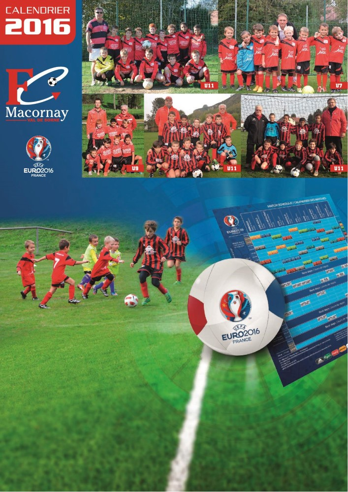 calendrier 2016 foot